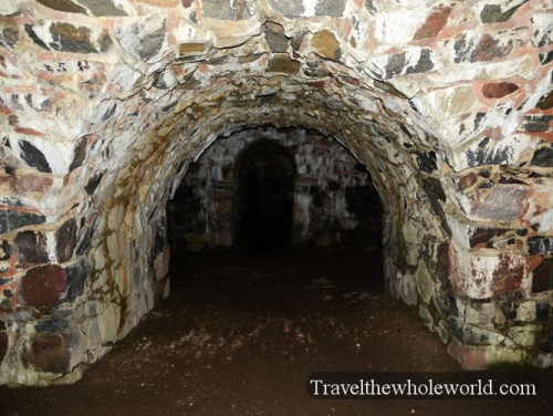 Finland Helsinki Suomenlinna Fortress Tunnel