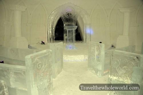 Finland Ice Hotel Village Ice Chapel