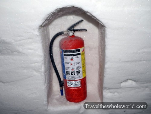 Finland Ice Hotel Village Fire Extinguisher