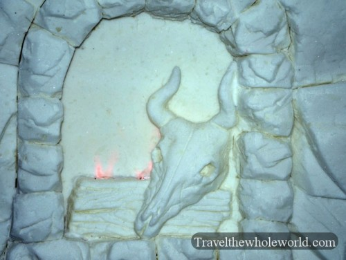 Finland Ice Hotel Village Fireplace