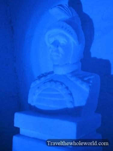 Finland Ice Hotel Village Statue