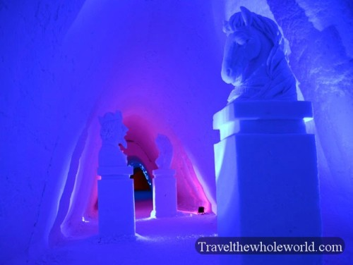 Finland Ice Hotel Village Statues
