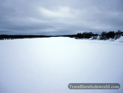 Finland Lapland Frozen Arctic River Winter