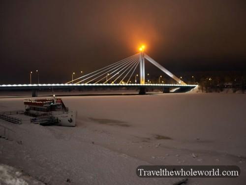 Finland Rovaniemi Lumberjack's Candle Bridge