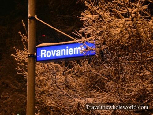 Finland Rovaniemi Train Station Sign