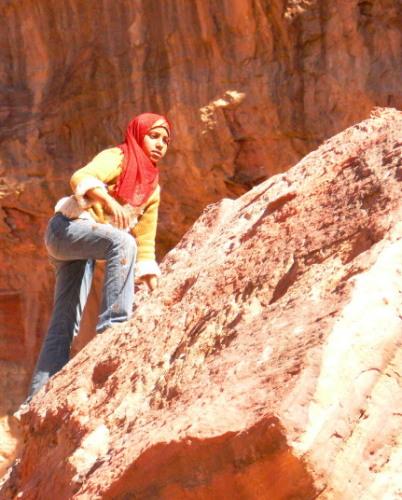 Jordan Petra Girl Climbing