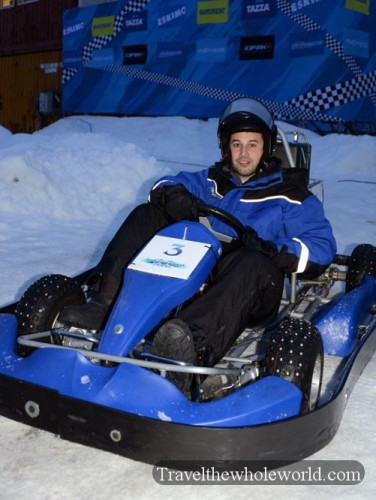 George Kashouh Ice-Karting
