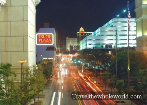 New Jersey Atlantic City Street Night