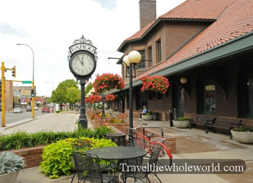 North Dakota Fargo Train Depot