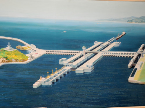 North Korea Nampo West Sea Barrage Drawing