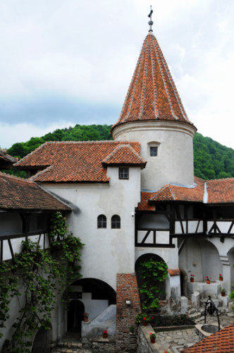 Romania Bran Castle Courtyard