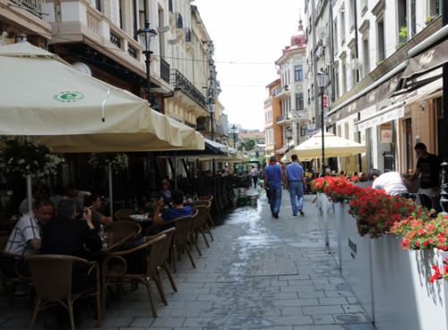 Romania Bucharest Old Town Street