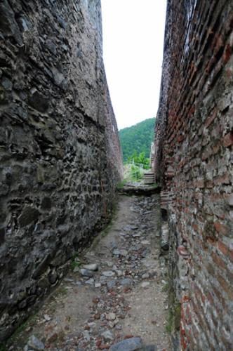 Romania Poenari Castle Hallway