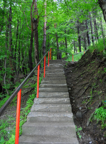 Romania Poenari Castle Stairs