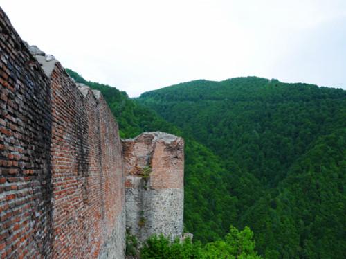 Romania Poenari Castle-Wall