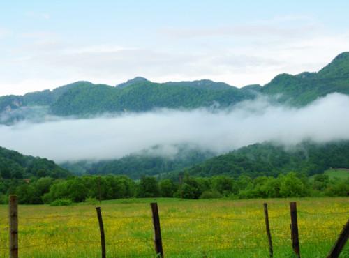 Romania Village Clouds