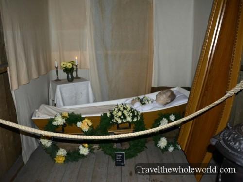 Sweden Djurgarden Nordic Museum Coffin