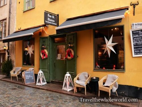 Sweden Gamla Stan Bistro Old Town