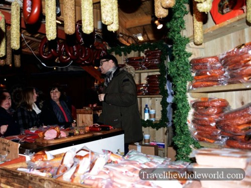Sweden Gamla Stan Christmas Market Sausage