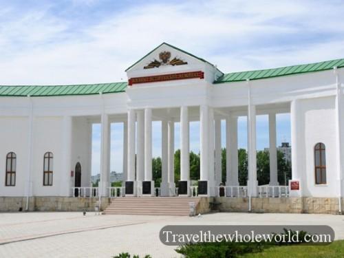 Transnistria Tiraspol Cemetery Entrance