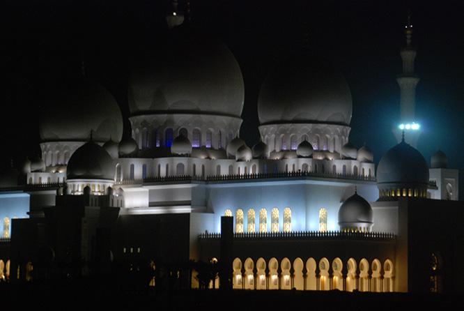 UAE Sheikh Zayed Grand Mosque Night