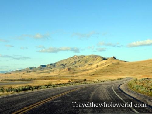 Utah Salt Lake Antelope Island Road