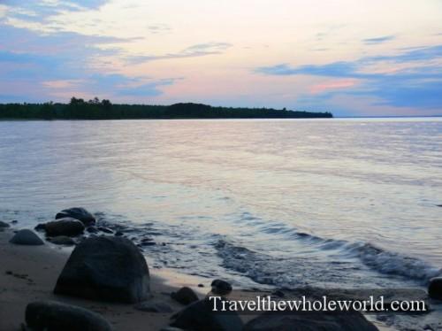 Wisconsin Lake Superior Sunset