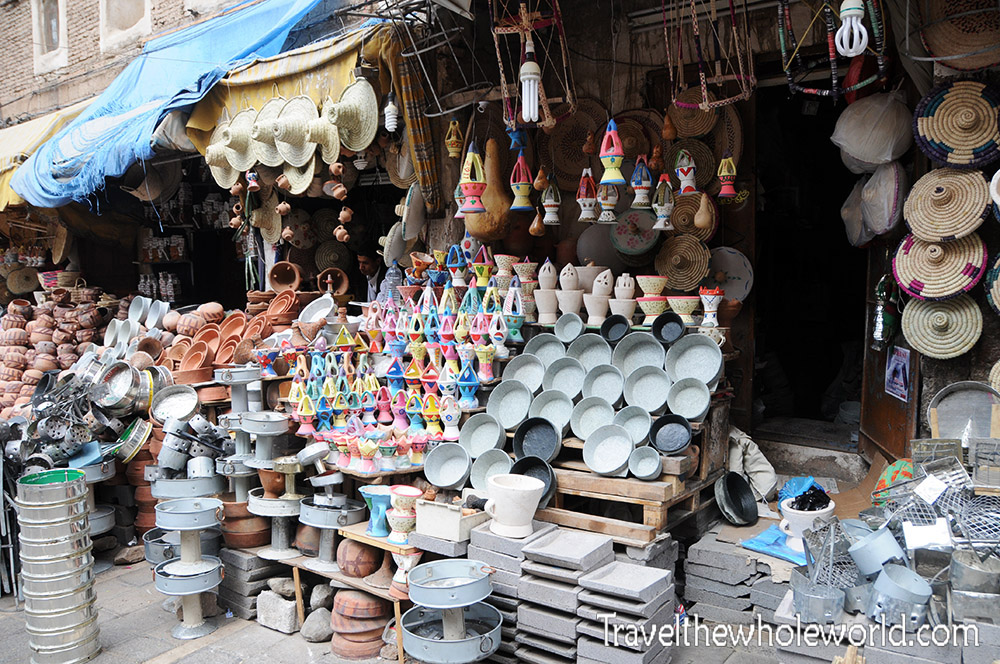 Yemen Sana'a Suq Pots