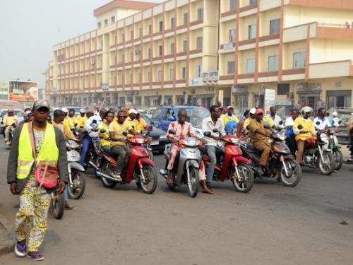 Benin Cotonou Busy Road