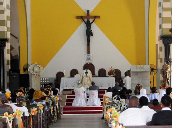 Benin Cotonou Notre Dame Wedding