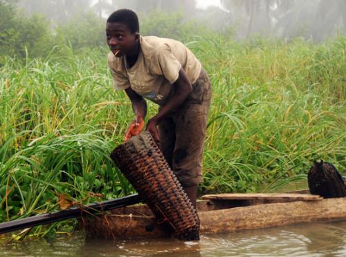 Benin Mangrove Fisherman