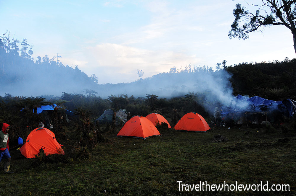 Carstensz Pyramid Camp II Tents