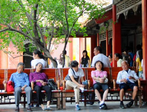 China Beijing Forbidden City People