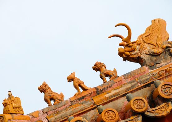 China Beijing Forbidden City Roof Tops