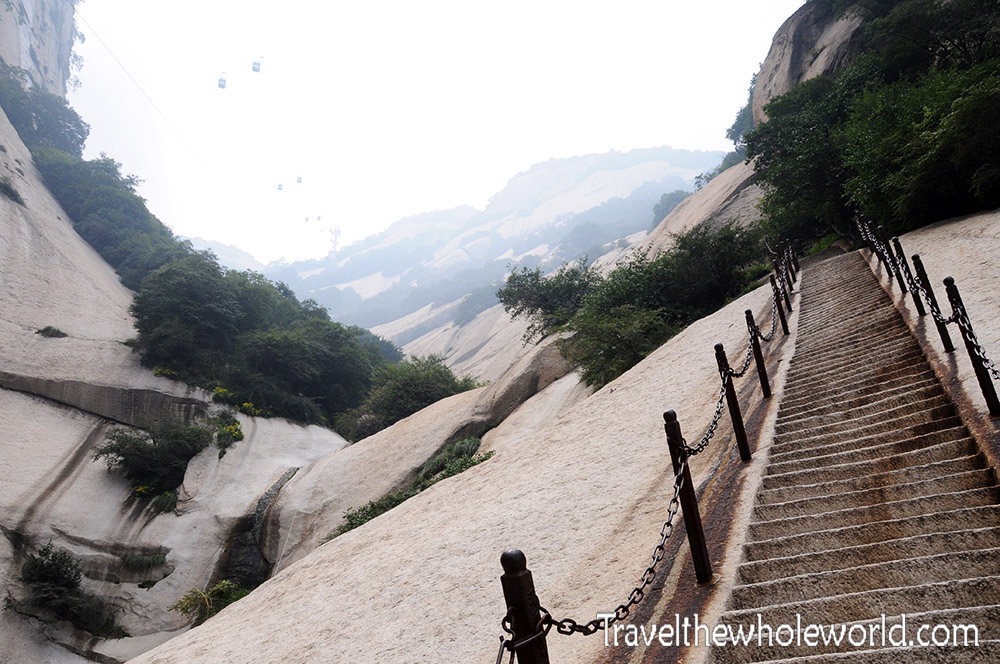 China Mt Huashan Stairs Soldier's Trail