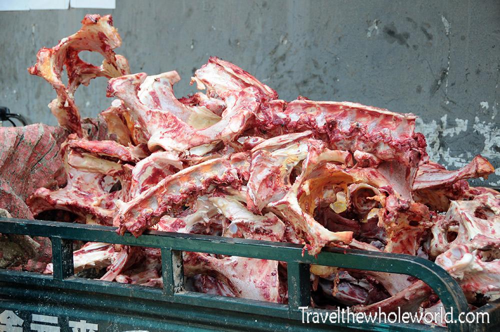 China Xian Market Meat