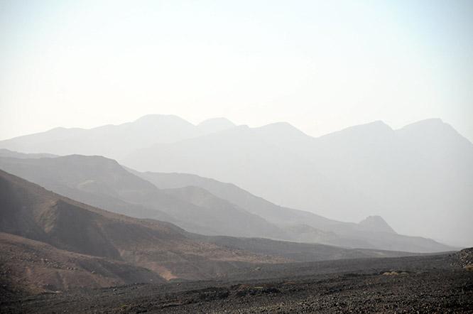 Djibouti Mountains Dusk