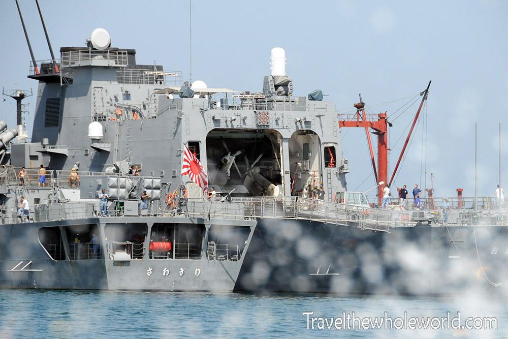 Djibouti Port Japanese Warship