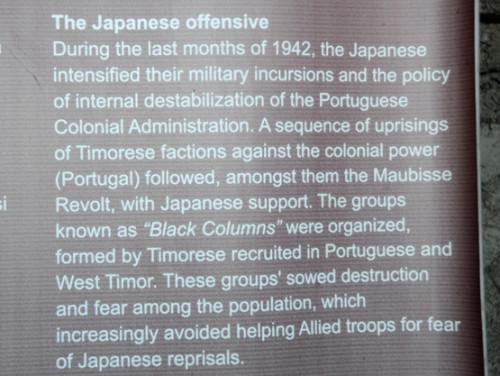 East Timor Dare WW2 Memorial