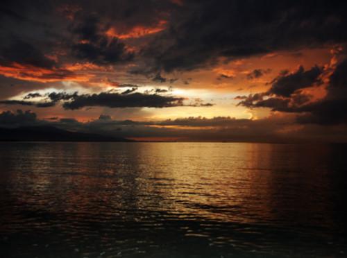 East Timor Dili Beach Sunset