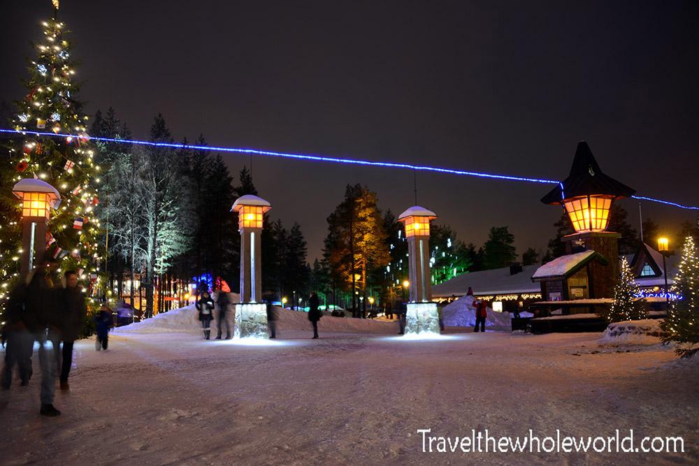 Finland Rovaniemi Santa Claus Village Arctic Circle Line