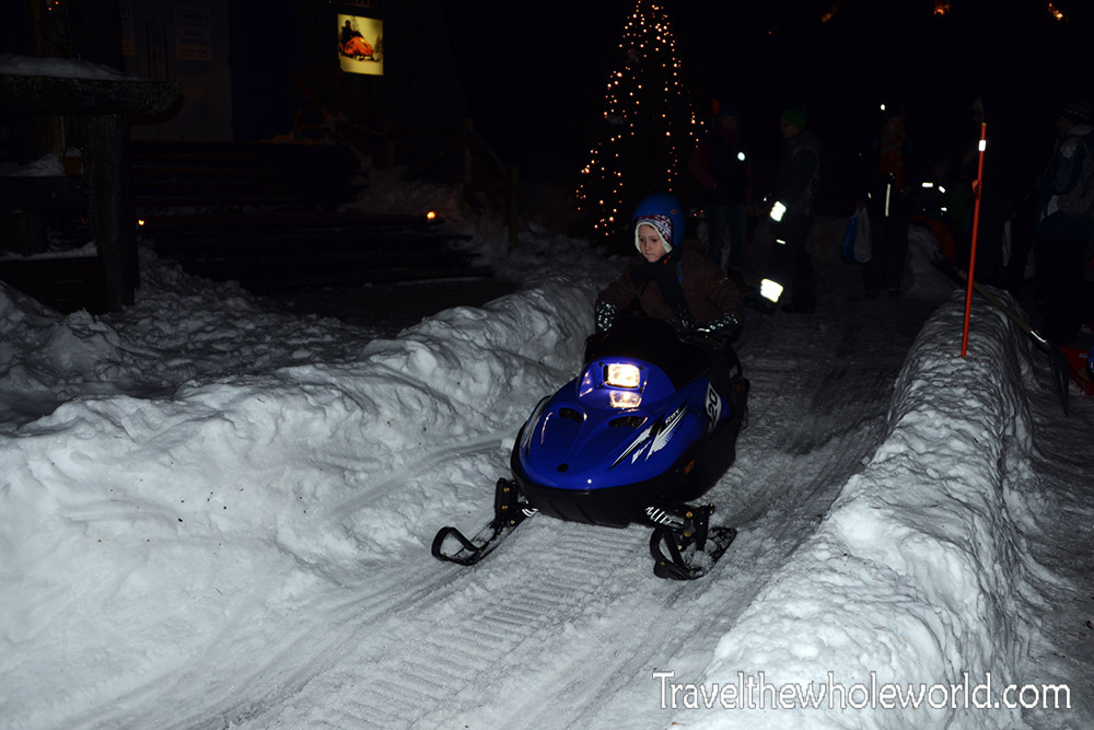 Finland Rovaniemi Santa Claus Village Kids Snowmobile
