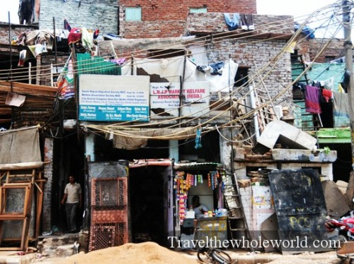 India New Delhi Slum