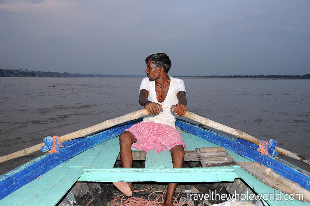 India Varanasi Baot Man