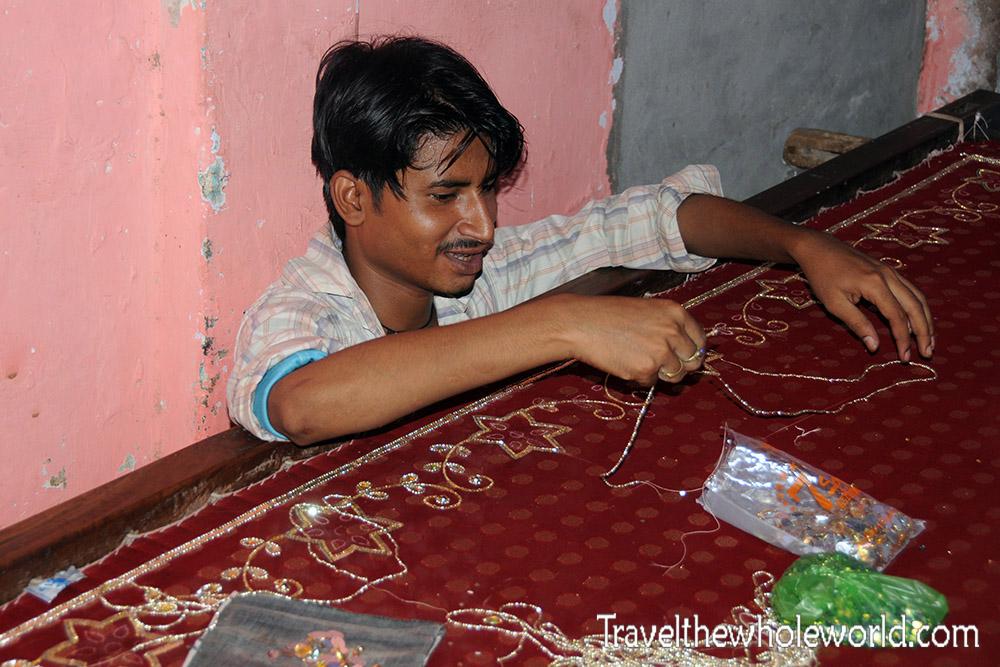 India Varanasi Silk Man