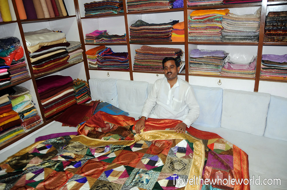 India Varanasi Silk Shop
