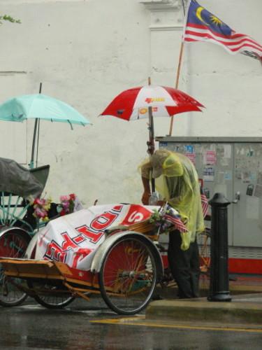 Malaysia Man Rainstorm