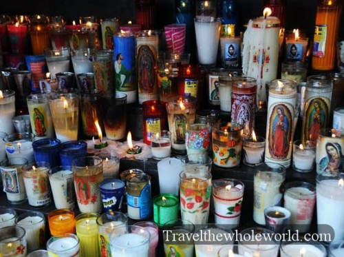 Mexico City Basilica Guadalupe Candels