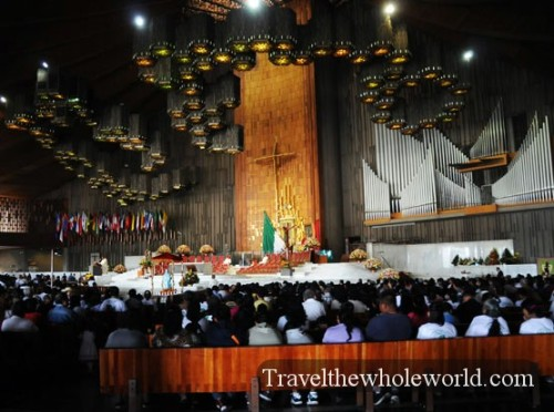 Mexico City Basilica Guadalupe Inside