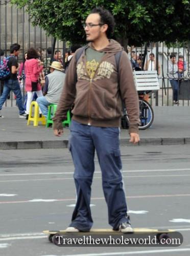 Mexico City Skate Boarder
